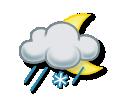 Slabý déšť se sněhem