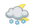 Slabý zvírený sneh