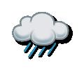 Slabé déšťové přeháňky