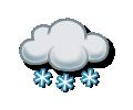 Slabá sněhová přeháňka
